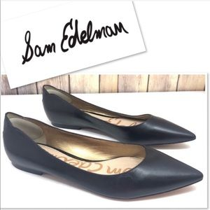 Sam Edelman Black Leather pointed toe flats 8.5